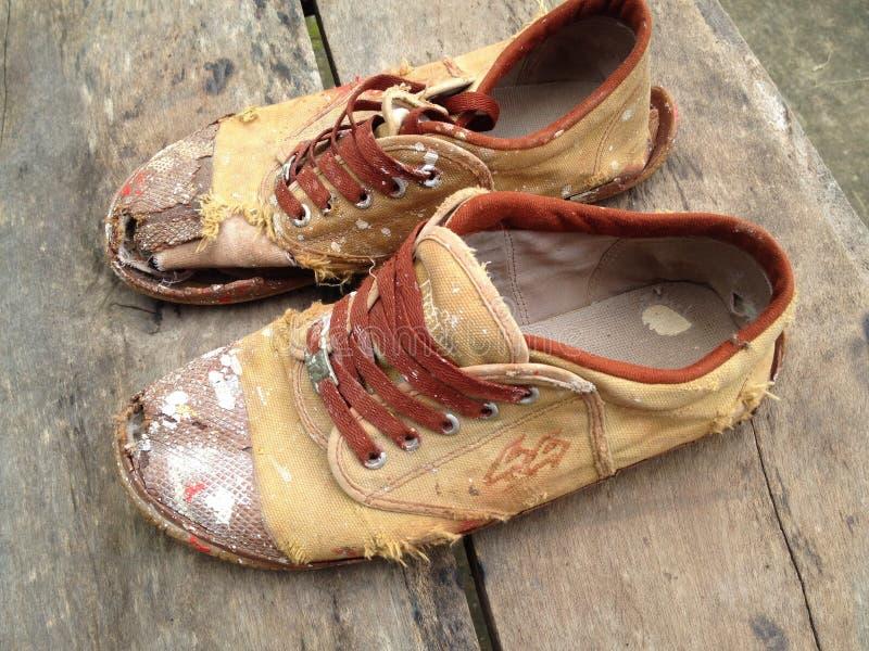 Stary obuwiany togather zdjęcia stock
