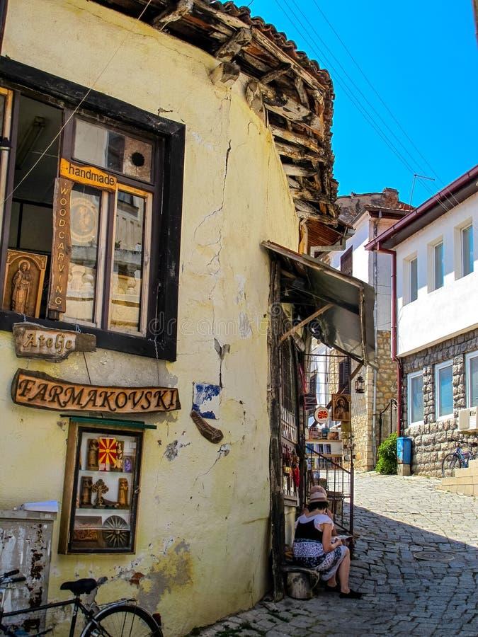 Stary Ohrid miasteczko Macedonia zdjęcie royalty free