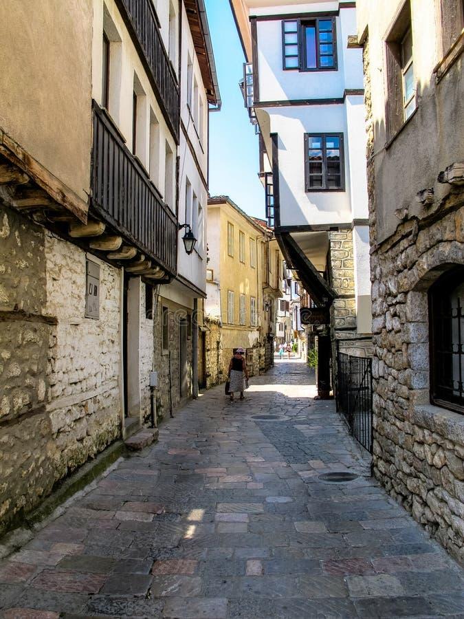 Stary Ohrid miasteczko Macedonia fotografia stock