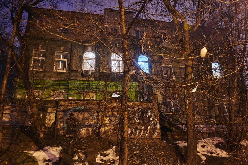 Stary okropny budynek obrazy royalty free