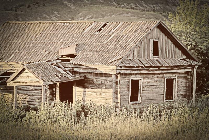 stary opuszczony dom ilustracji