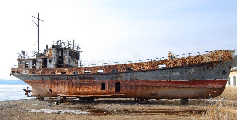stary opuszczony rusty statku fotografia royalty free