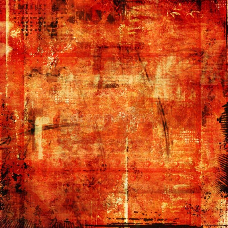 stary papier czerwony miejskie ilustracja wektor
