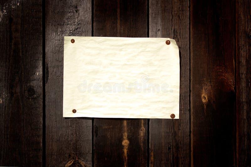 stary papier halsował target1343_0_ drewno obrazy royalty free