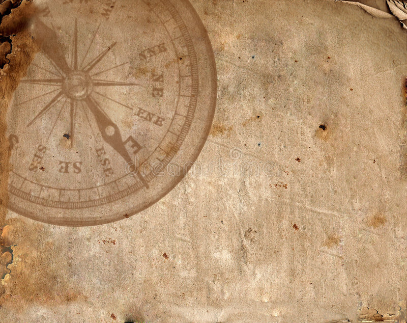stary papier kompas obraz royalty free