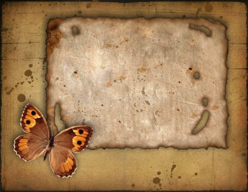 stary papier motyla ilustracji