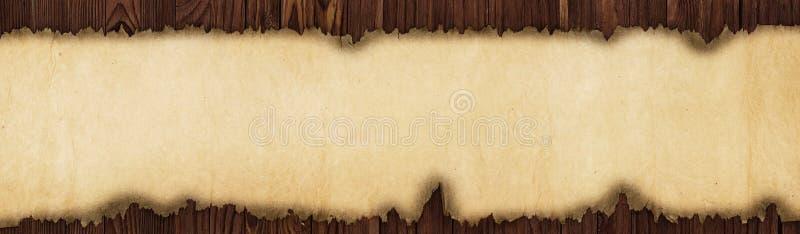 Stary papier na stole, panorama w wysoka rozdzielczość obrazy royalty free
