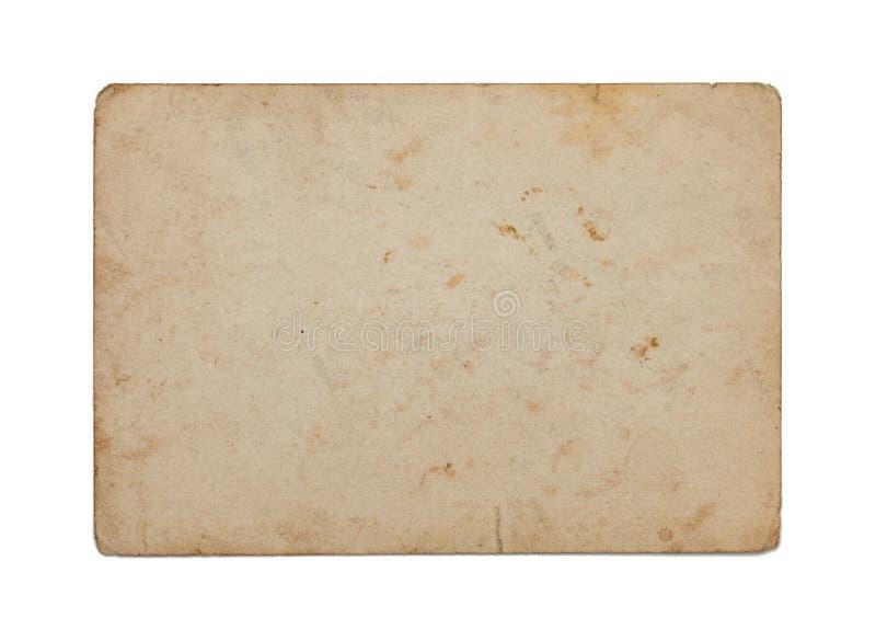 Stary papier odizolowywający na bielu zdjęcia royalty free