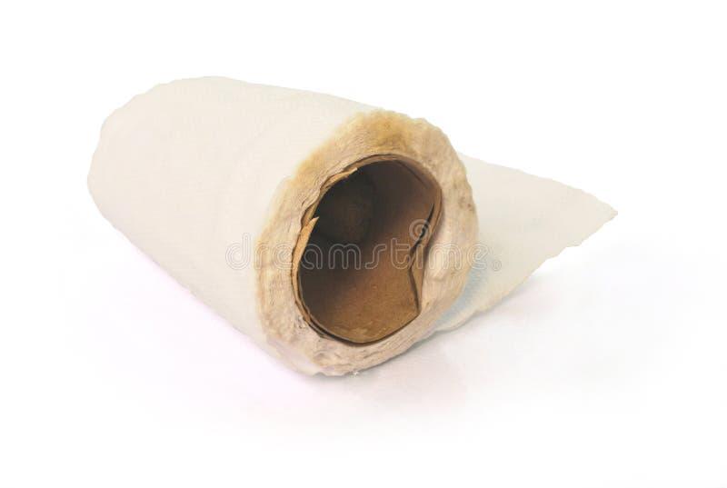 Stary papier toaletowy Z ?cinek ?cie?k? obraz royalty free