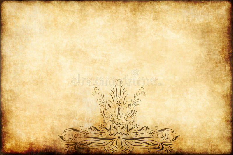 stary papierowy pergaminowy królewski royalty ilustracja