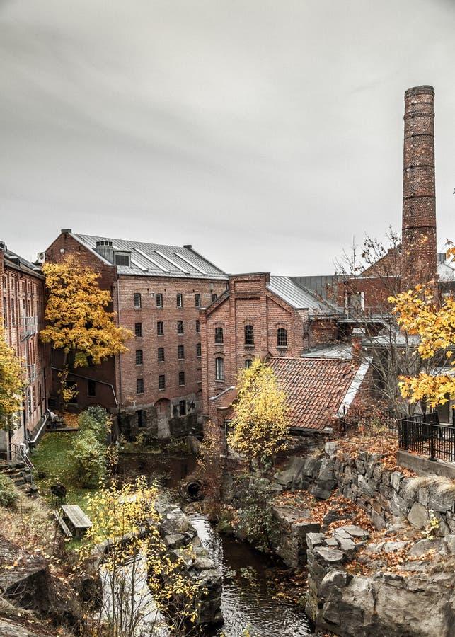 Stary Papierowy przemysł w Norwegia zdjęcie royalty free