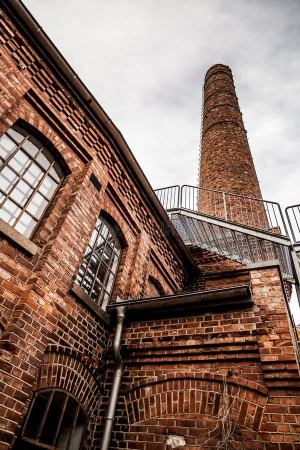 Stary Papierowy przemysł w Norwegia zdjęcia stock