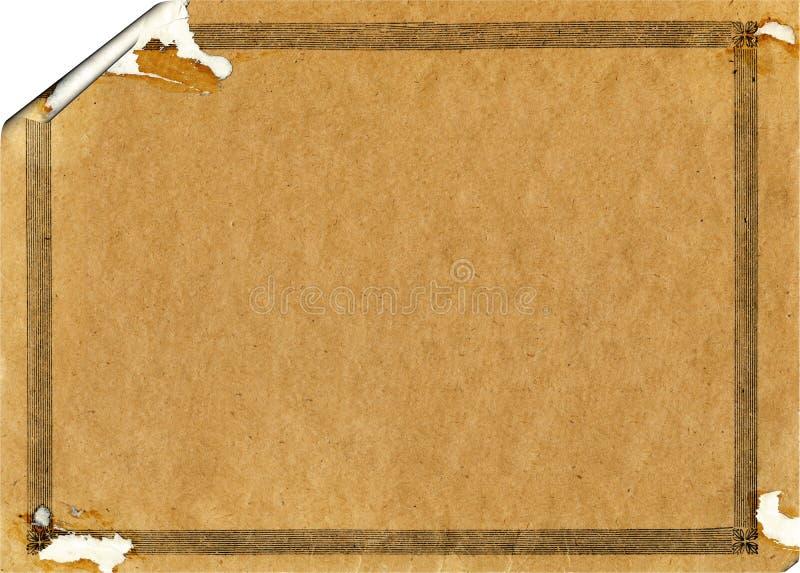 stary papierowy retro rozdzierający rocznik zdjęcia royalty free