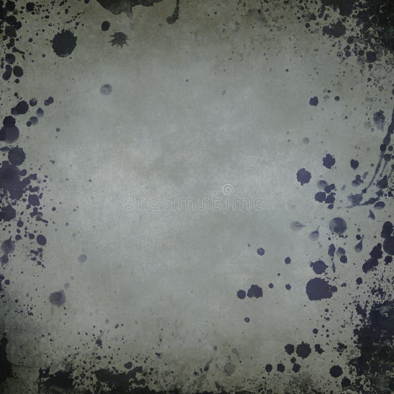 Stary papierowy tło z splatters obraz stock