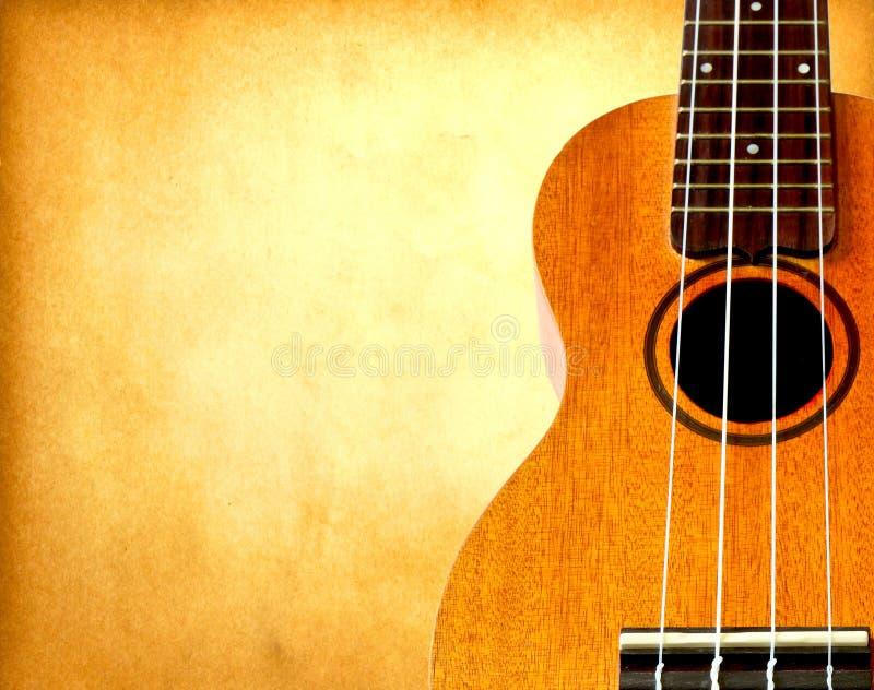stary papierowy ukulele zdjęcia stock