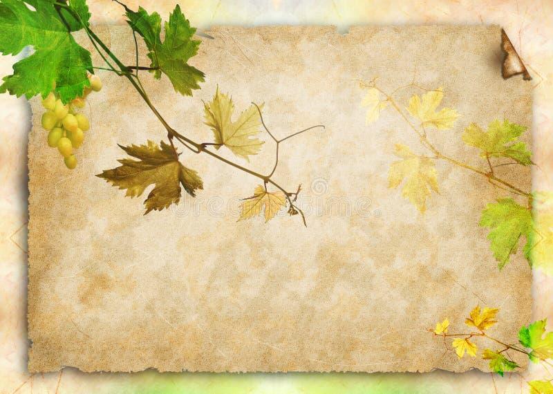 stary papierowy winograd ilustracja wektor