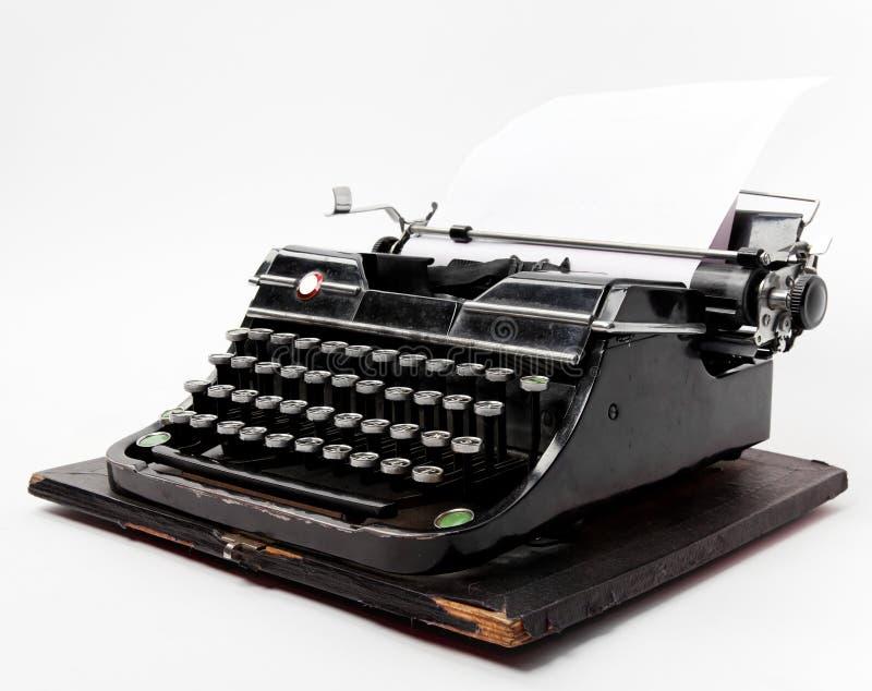 stary papieru prześcieradła maszyna do pisania obrazy stock