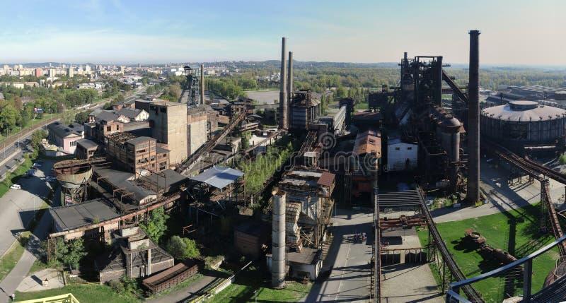 Stary park przemysłowy Dolni oblast Vitkovice w Ostrava zdjęcie royalty free