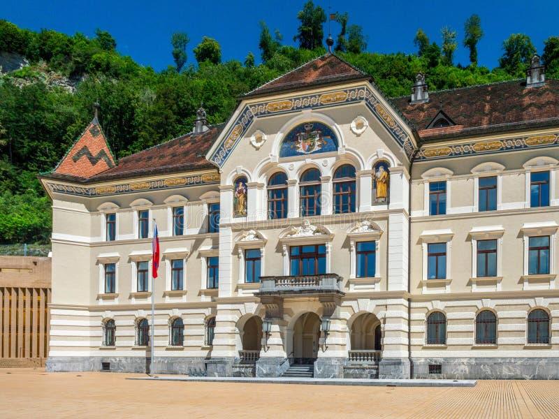 Stary parlament w Vaduz ksiąstewko Liechtenstein zdjęcie stock