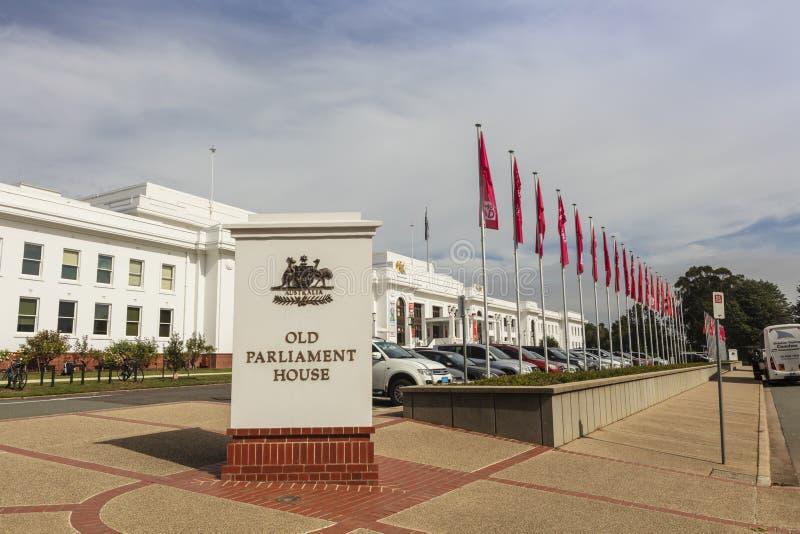 Stary parlamentu dom rozpoznawał jako jeden znaczący dziedzictwo budynki w Australia obraz royalty free