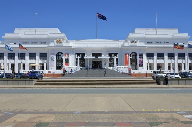 Stary parlamentu dom w Canberra strefy Australia kapitału Parlamentarnym terytorium fotografia royalty free