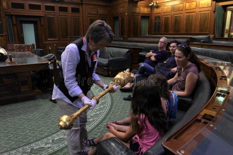 Stary parlamentu dom w Canberra strefy Australia kapitału Parlamentarnym terytorium fotografia stock