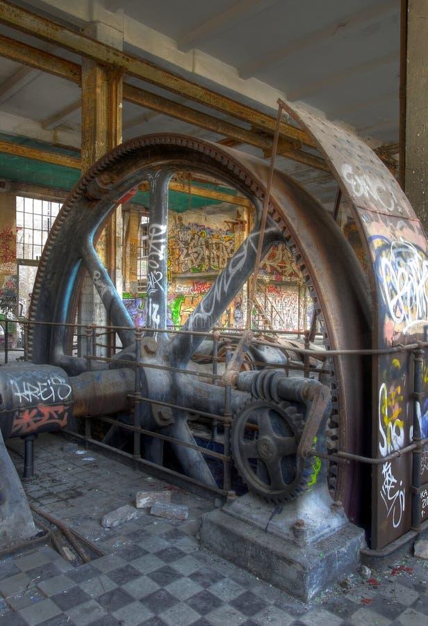 Stary parowy silnik obraz stock