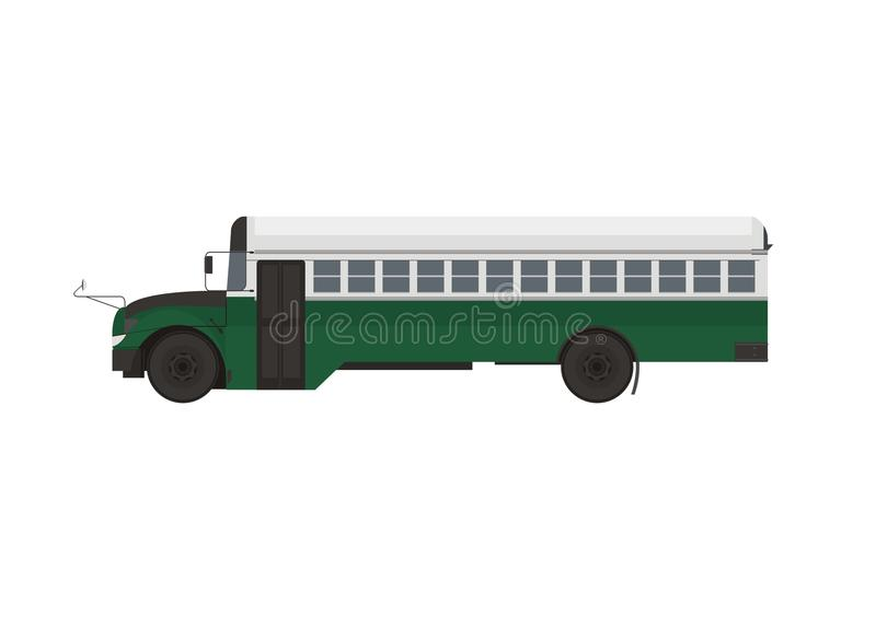 Stary pasażerski autobus royalty ilustracja