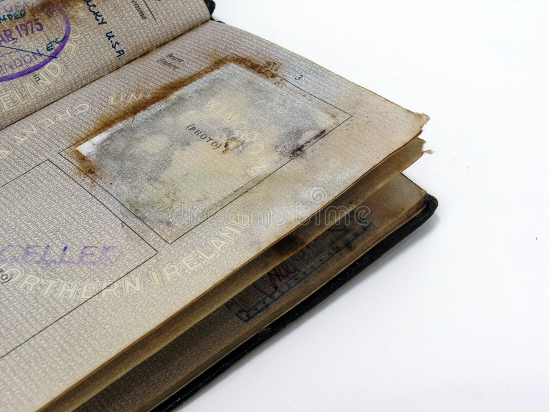 stary paszport zdjęcia stock