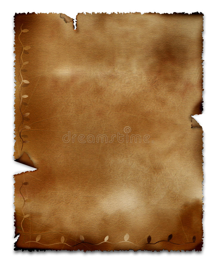 stary pergamin ilustracja wektor
