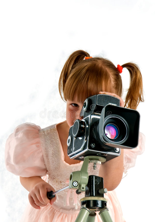 stary photocamera bawić się zdjęcie royalty free