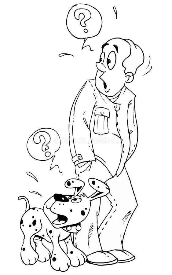 stary pies ilustracji