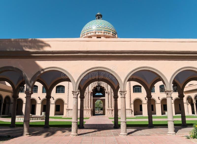 Stary Pima okr?gu administracyjnego gmach s?du w Tucson zdjęcie stock