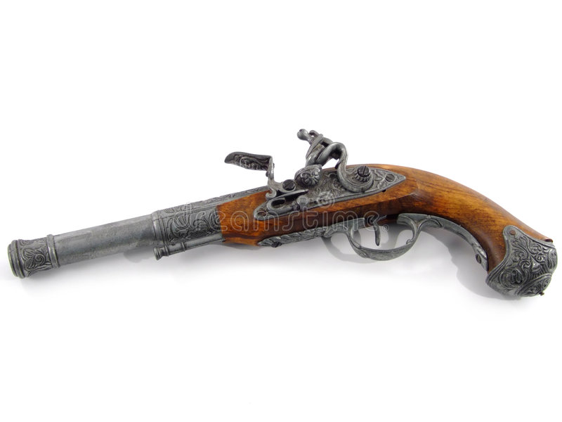 stary pistolet fotografia stock
