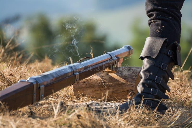 Stary pistolet podpala zdjęcie royalty free