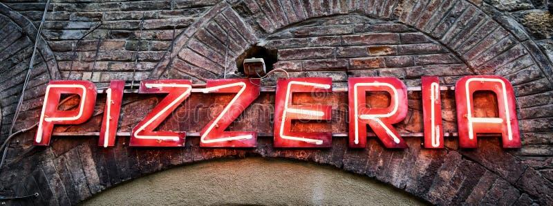 Stary pizzeria znak obraz royalty free