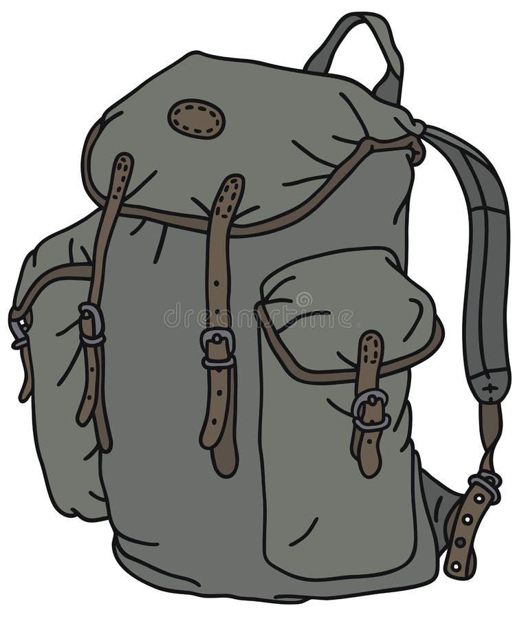 stary plecak ilustracji