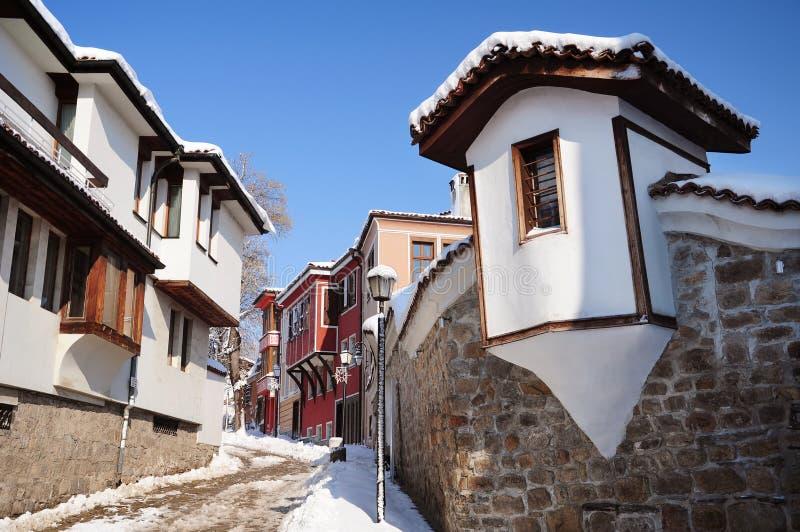 stary Plovdiv s ulicy miasteczko fotografia stock