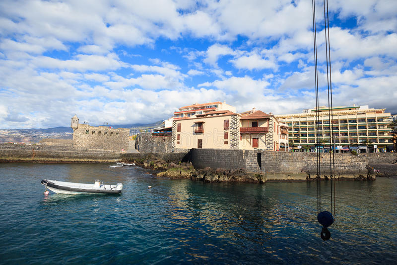 Stary połowu port De San Felipe Puerto w De Los angeles Cruz i Castillo fotografia royalty free