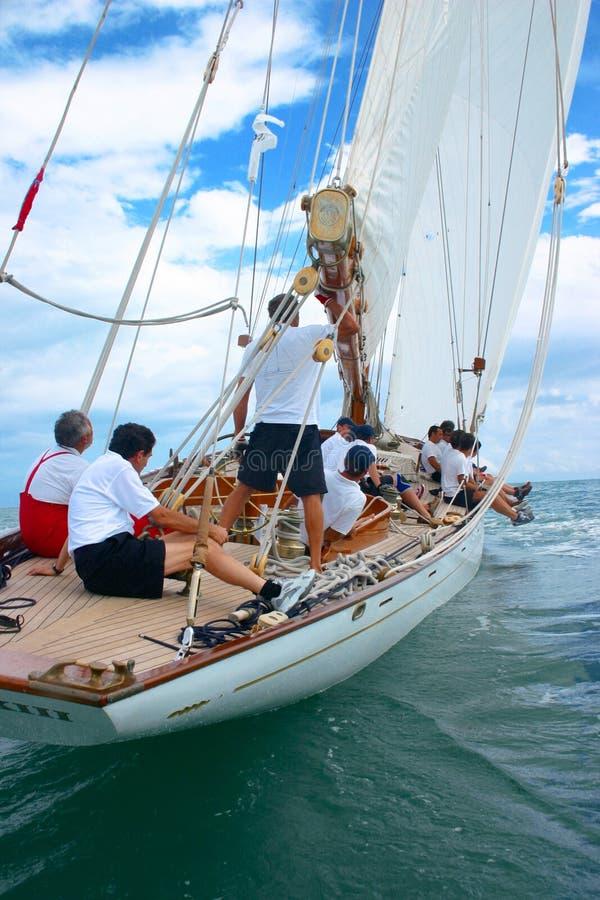 stary pożeglować łodzi obraz royalty free