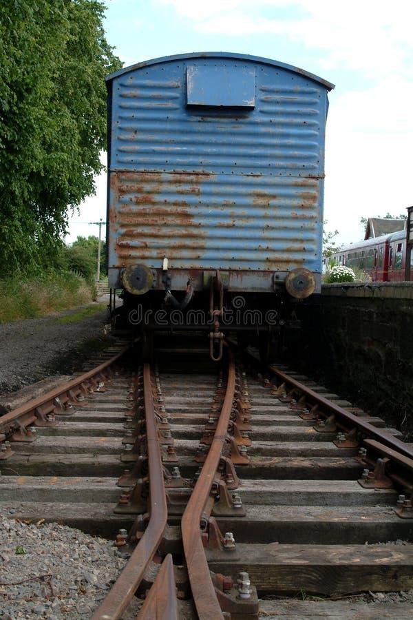 stary pociąg Scotland ładunku zdjęcia stock
