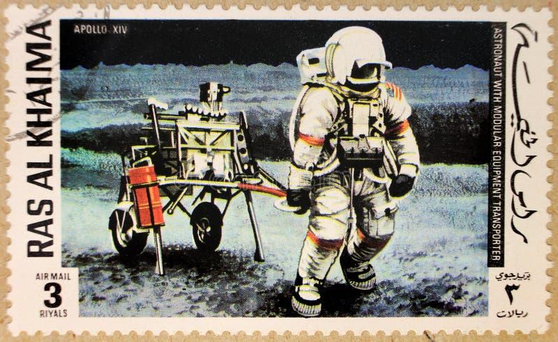 Stary poczta znaczek Rasa Al Haima obraz stock