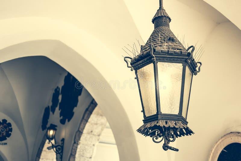 Stary podsufitowy lampion obrazy stock
