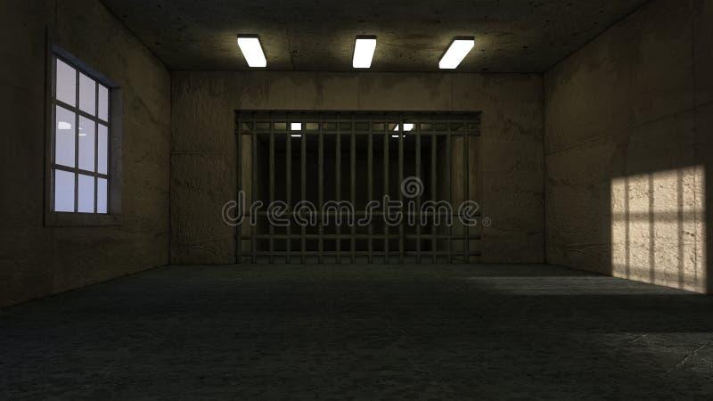 Stary pokój i więzienie zdjęcie royalty free