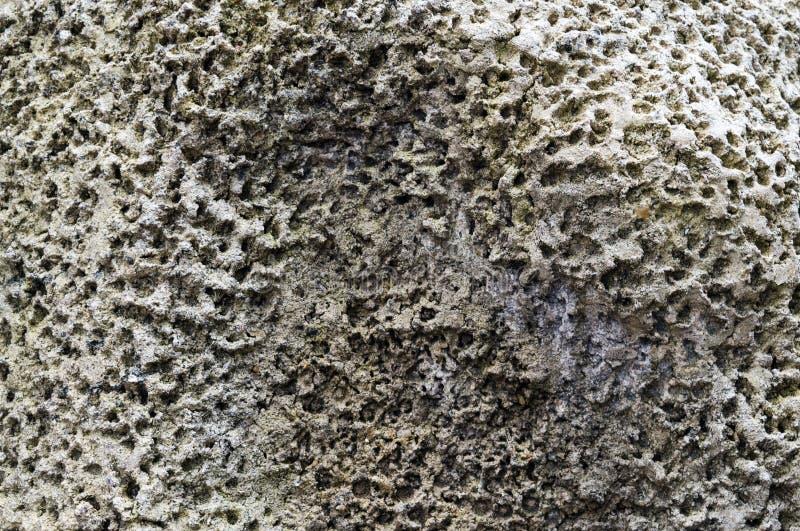 Stary porowaty kamień powierzchni tekstury zbliżenie zdjęcie stock