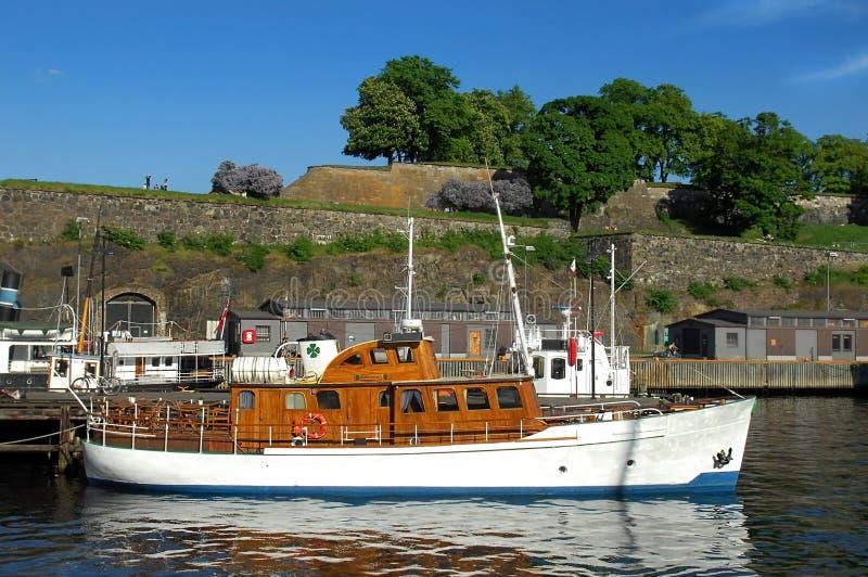 Stary port i forteca Oslo, Norwegia obraz royalty free