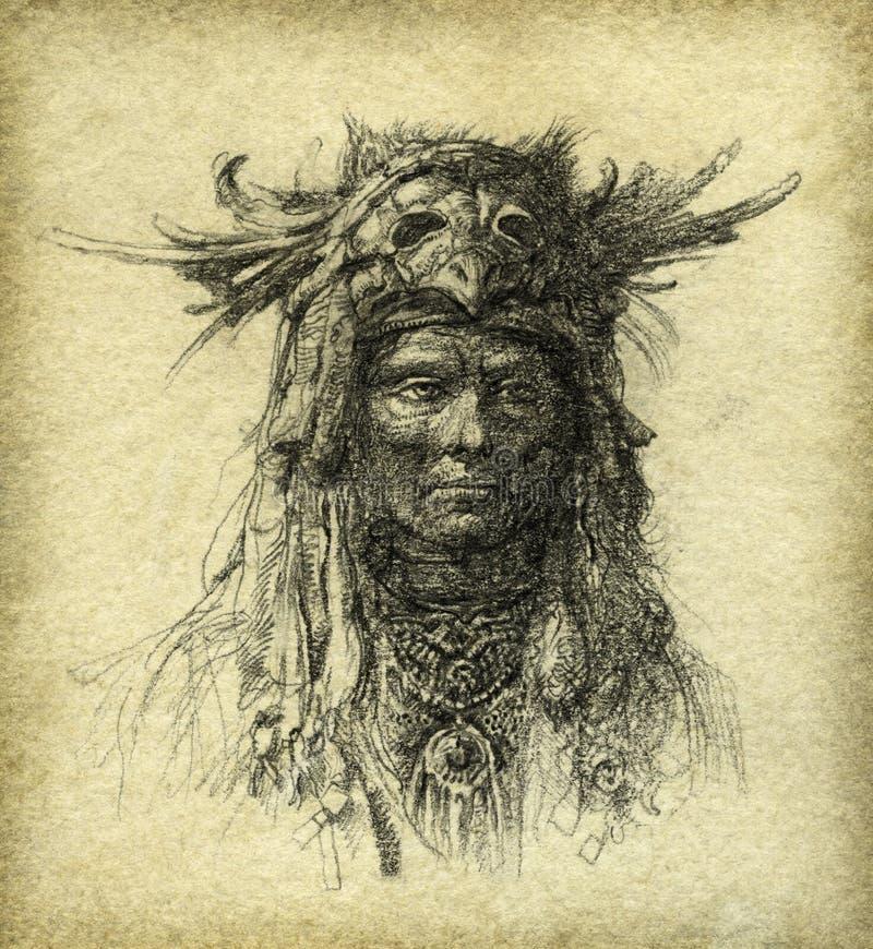 stary portret ilustracji