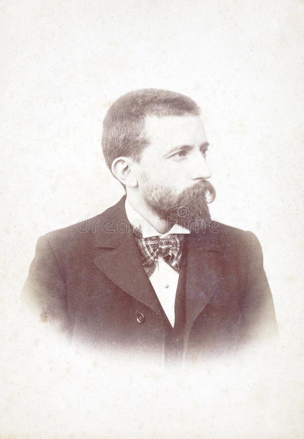 Stary portret mężczyzna obraz royalty free