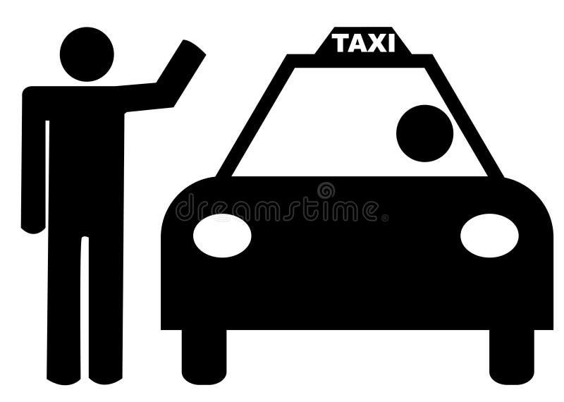 stary powitać taksówkę ilustracja wektor