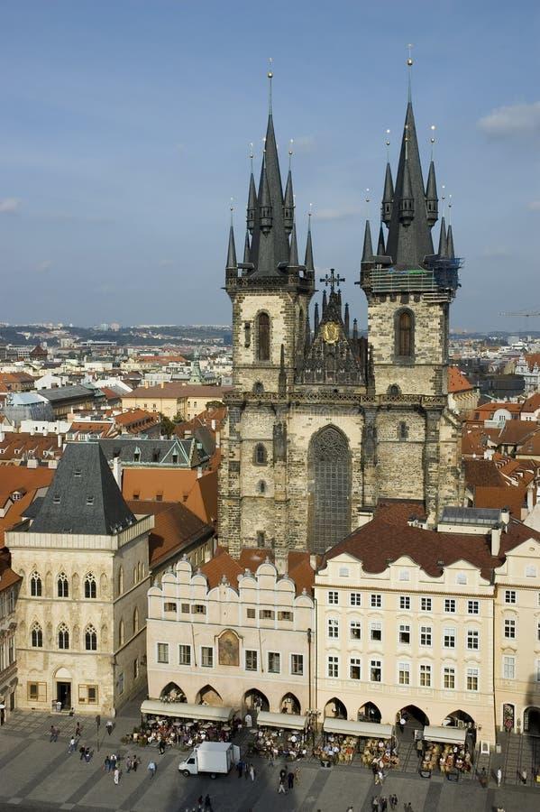 stary Prague placu miasta obrazy stock
